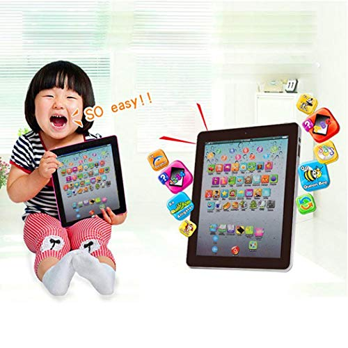 Junio1 Pantalla táctil para niños Tablet Pad English Learning Early Education Machine Ordenadores educativos