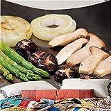 Tapiz de impresión en Color 3D Estilo Moderno Gourmet Barbacoa...