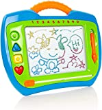 Milly & Ted Magnetic Drawing Board - Childrens Large Doodle Pad With Magic Erase