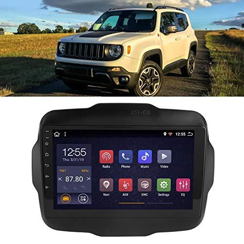 Sistema de navegación para automóvil, navegador para automóvil, fácil de operar, multifunción con WIFI incorporado para Jeep Renegade(WiFi version 2+32G, Pisa Leaning Tower Type)