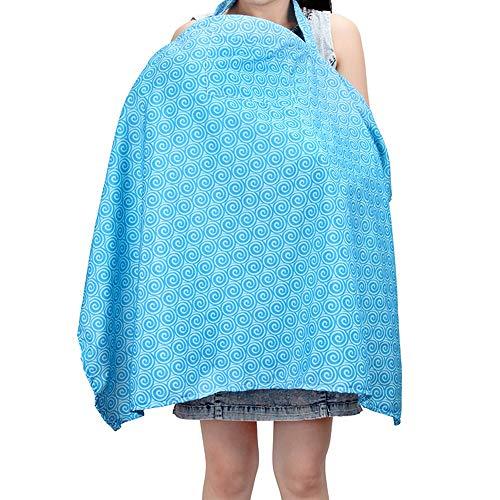 Privacy Borstvoeding Cover, Baby Carseat luifel, Winkelwagen Koffer Koffer Cover,Ademend Licht Gewicht Mode Ontwerp 100 * 67.5cm Blauw