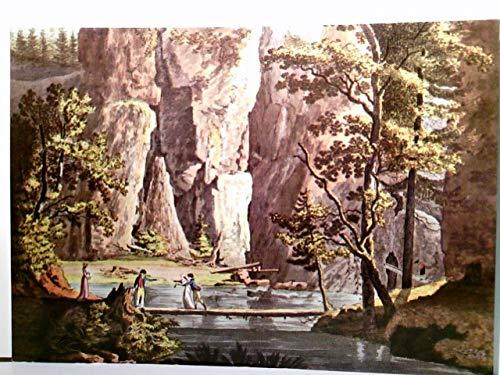 In den Adersbacher Felsen, südöstlich des Riesengebirges. Der Teich am Eingang zum Wasserfall im großen Kessel. Alte, schöne Künstler AK farbig nach einer altkolorierten Radierung von Anton Balzer ...