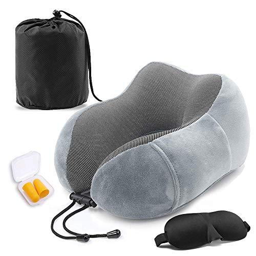 ネックピロー 記憶綿のU字型の枕 飛行機 まくら 低反発 U型まくら 通気性が良く 軽量 携帯枕 洗えるカバー 旅行用品 昼寝 オフィス 大人の子供