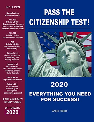 Compare Textbook Prices for Pass the Citizenship Test  ISBN 9781075993008 by Tropea, Angelo