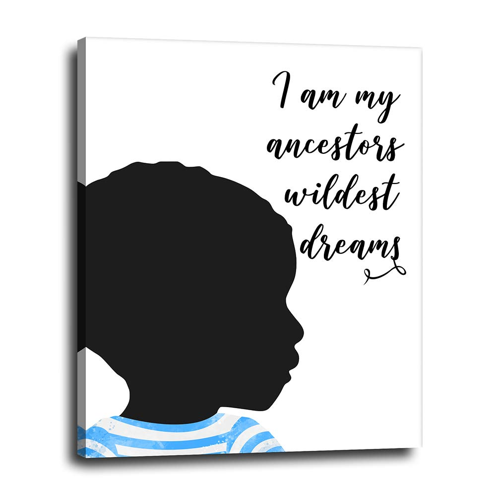 African American Boys Room Reservation Max 85% OFF Decor - on Inspirational 16x20 Canvas