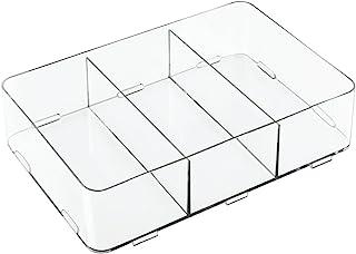 InterDesign 42510 Clarity Interlocking Drawer Organizer for Cosmetics, Jewelry & Desk/Office Supplies, Clear