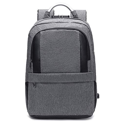 XinMeiMaoYi Outdoor Backpack Men's Business Casual Style Backpack Student Backpack Large Thin (Color : Gray)