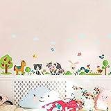 Pegatinas de Pared Encantadores animales de granja pegatinas de pared para la decoración del hogar Sala Infantil Dormitorio Caballo Vaca pollo cerdo Arte Mural bricolaje Vinilos adhesivos de PVC