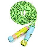 babyGreen Cuerda de Saltar para niños,Cuerdas de Saltar,Skipping Rope Ajustable con Mango de...