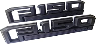 2x F150 FX4 Fender Emblems Black Badge 3D Logo Nameplate Replacement for 2015-2019 F-150 Original Size