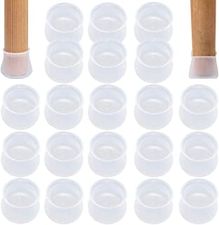 Opopark 60 Piezas Tapones para Patas de Silla,Cubierta Protectora de Silicona Protector de Patas Tapa de Patas de Muebles Cuadrados Pies de Goma Silicona Antideslizante Resistente