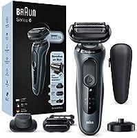 Braun Series 6 60-N4820cs Rasoio Elettrico Barba con Base di Ricarica, Rifinitore di Precisione, Rifinitore Effetto Barba...