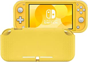 SKINOWN Protective Case Cover for Nintendo Switch Grip Case Anti-Scratch Design for Nintendo Switch Lite 2019 (Yellow)