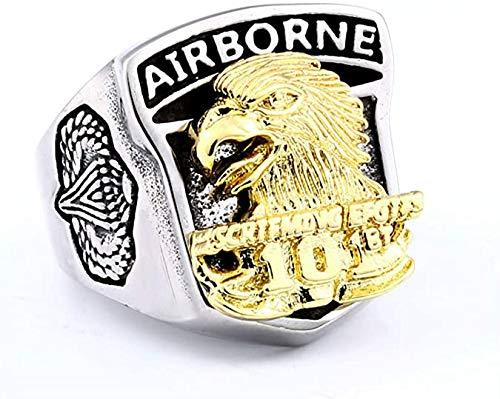 Anillo Gran Águila de los Indios Americanos de Acero de Titanio Anillo de los Hombres, Punk Rock Águila Collar de Acero de Titanio,11