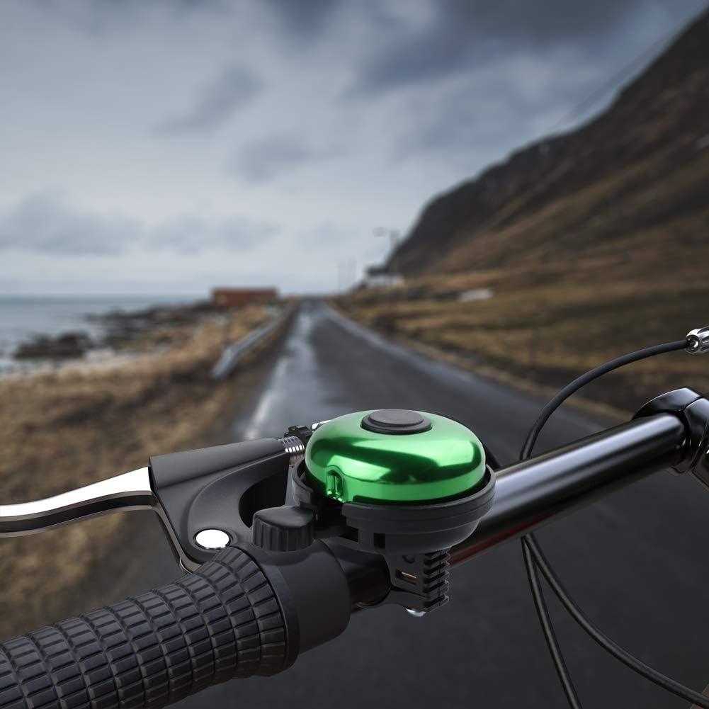 Paliston Fahrradklingel Aluminum Fahrradklingel f/ür Erwachsene Kinder Jungen M/ädchen 3 Style 7 Farben