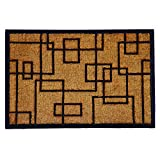 Calloway Mills 153652436 Social Square Doormat, 24' x 36', Natural/Black