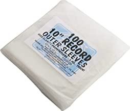 """100 Plastic Outer Sleeves for 10"""" Vinyl Records #10SE03 - Protect The Record Jacket & Protect Against Dust! 3 MIL Thick! (Albums/Outersleeves)"""