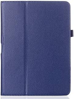 Asng Samsung Galaxy Tab 4 10.1 Case - Slim Folding Cover with Auto Wake/Sleep for Samsung Galaxy Tab 4 10.1 Tablet (SM-T530 / T531 / T535) (Drak Blue)