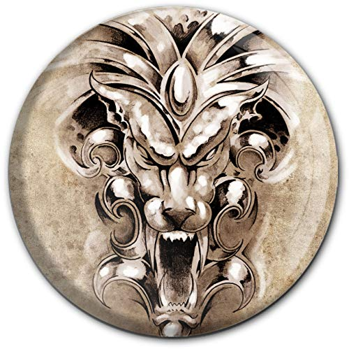 metALUm runder Acrylmagnet mit starkem Neodym - Magnet Gargoyle | Dämonisch #1301193