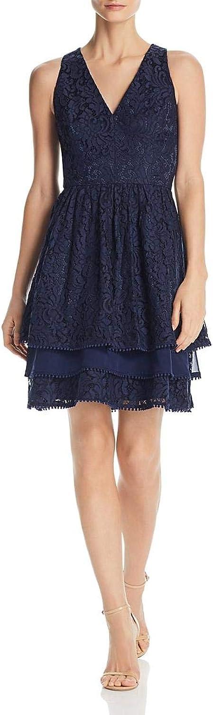 Eliza J Women's Sleeveless Lace Fit and Flare Dress