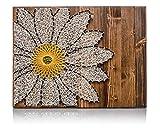 DIY String Art Kit | Daisy String Art Kit | Adult DIY Kit Includes All Crafting Supplies | Daisy Wall Art | String Art Patterns | Christmas Gift