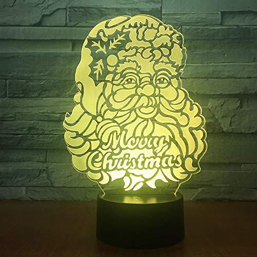 Mddjj 7 Color Changing 3D Night Light Santa Claus Visual Led 3D Desk Table Lamp Baby Sleeping Lighting Kids Christmas Gift Décoration De La Chambre
