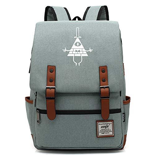 Zaino Anime Gravity Falls, zainetto casual, borsa da scuola per adolescenti, si adatta allo zaino per laptop da 15'e tablet da 16 pollici. Colore-22.