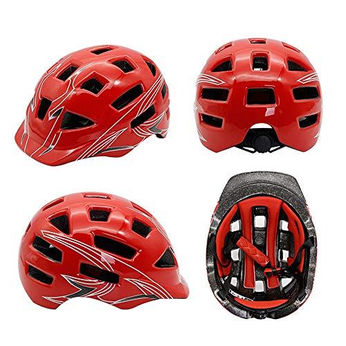 Kaper Go Fahrrad Fahren Mountainbike Skateboard Roller Skating Balancer Sport Integrierte Moulding Helm Schutzhelm Design (Color : Red)
