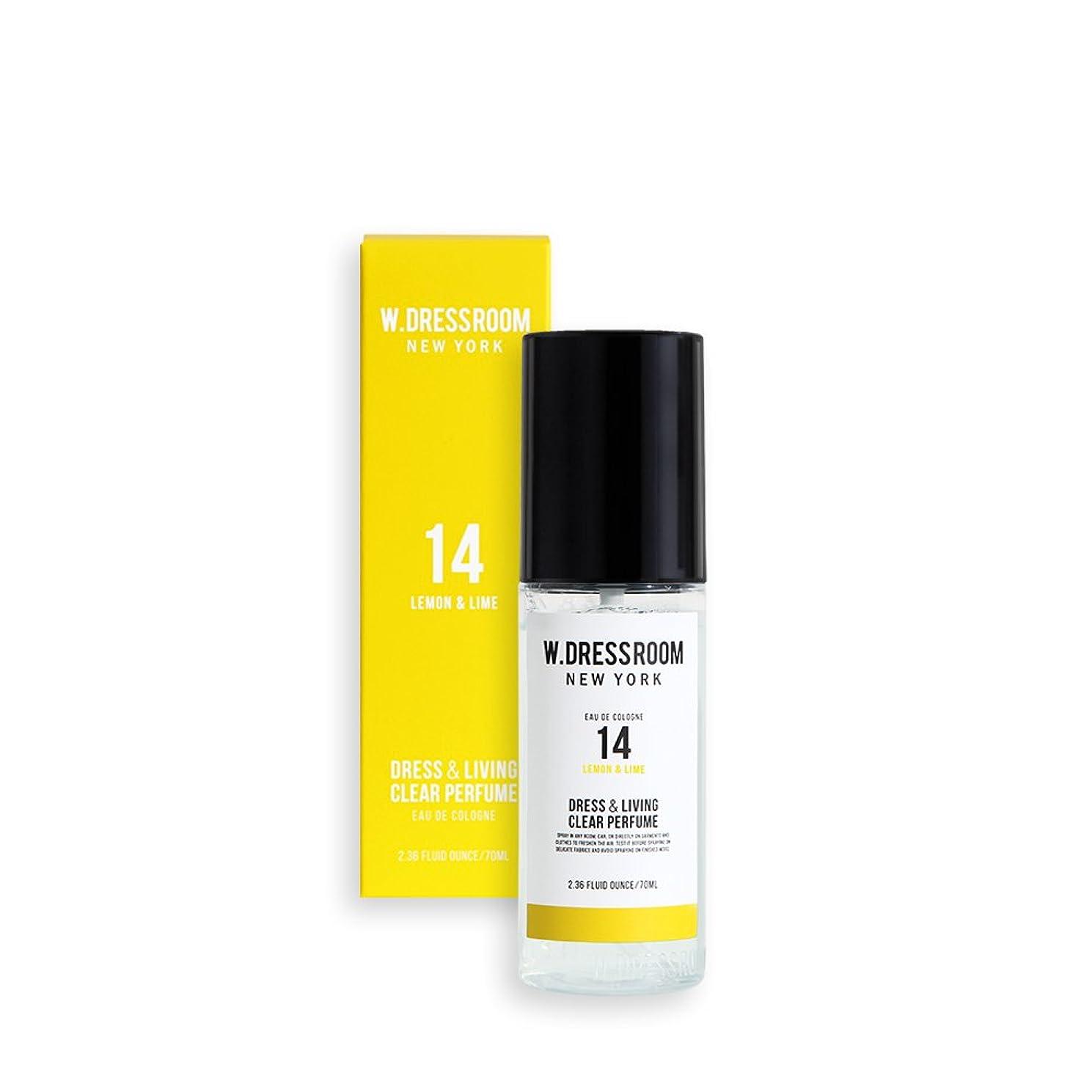 水っぽい一貫した野なW.DRESSROOM Dress & Living Clear Perfume 70ml/ダブルドレスルーム ドレス&リビング クリア パフューム 70ml (#No.14 Lemon & Lime) [並行輸入品]
