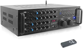 Dual Channel Bluetooth Mixing Amplifier - 2000W Rack Mount Karaoke Sound Mixer Audio Home Stereo Receiver Box System w/ RCA, USB, AUX - For Speaker, PA, Home Theater, Studio/Stage - Pyle PMXAKB2000