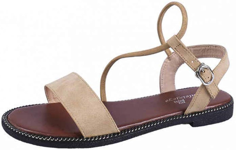 JOYBI Women Casual Flat Sandals Summer Buckle Strap Comfort Slip On Fashion Ladies Gladiator Sandal shoes