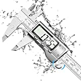 Calibre Digital, Orthland Pie de Rey Todo metal 150mm Profesional Acero Inoxidable con Gran Pantalla LCD,Precisión 0.01mm Profesional Profundidad y Escalera Calibrador Micrómetro