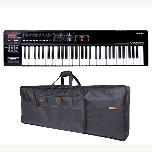 Roland A-800PRO 61-key MIDI Keyboard Controller Roland Black Series Keyboard Bag Bundle