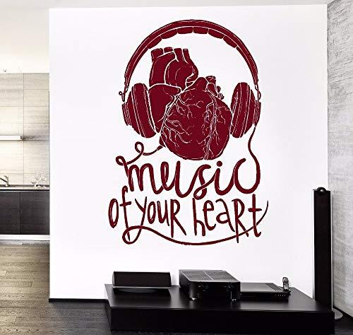 Geiqianjiumai Auriculares Decorativos con Sala de música Mural Desmontable para garantizar Que la Calidad de su corazón Sea de 75.6X106.2CM