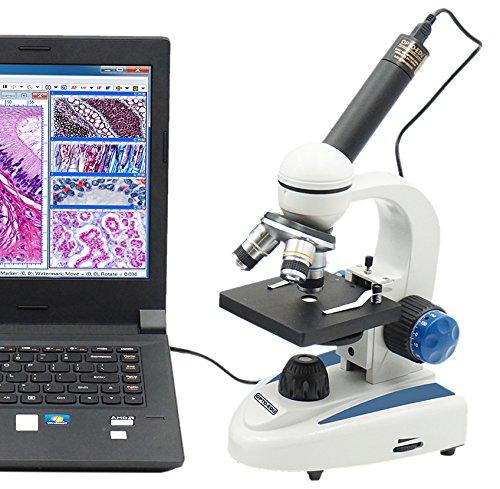 OPTO-EDU A11.1141-350K A11.1141-M Compound Monocular Microscope, Metal, Glass, Plastic