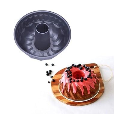 9 inch Nonstick Round Fluted Cake Pan Angel food Cake Pan Kitchen pan(9 inch)