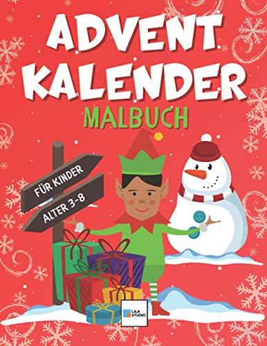 Advents Kalender Malbuch für Kinder: