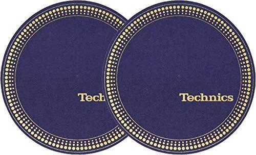 Slipmat Technics Strobo Blue/Gold - Juego de cama doble