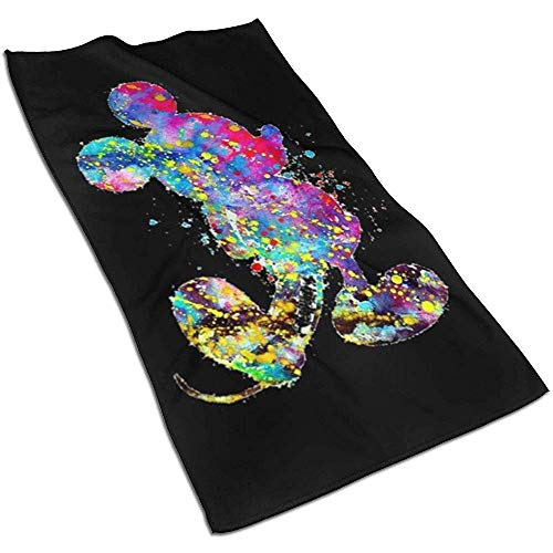 Fantasy Mickey Mouse Zachte Super Absorbent sneldrogende handdoek badhanddoek strandlaken - 27,5 x 17,5 inch