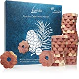 Moth Repellent for <span class='highlight'>Wardrobe</span>s: 30x Premium Cedar Wood Rings against Clothes Moths, Cedar Flowers as Eco Friendly Moth Protection and <span class='highlight'>Wardrobe</span> Fresheners, Chemical-Free Moth Trap by LAVODIA