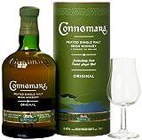 Connemara Irish Peated Malt mit Geschenkverpackung Glas Whisky