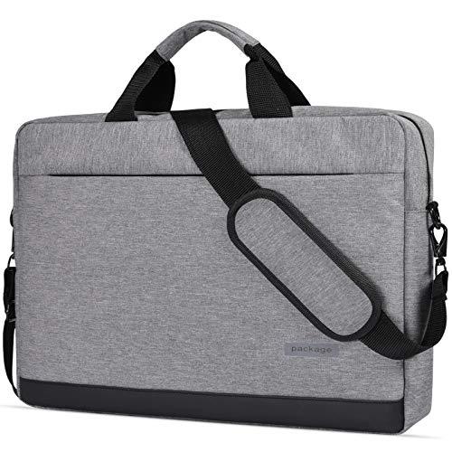 """15.6 Inch Laptop Shoulder Bag Messenger Bag Waterproof Notebook Case Compatible with Acer Chromebook 15/Acer Predator Helios 300, Lenovo Yoga 730 15.6"""", MSI ASUS LG Acer HP 15.6 inch Laptop Bag,Grey-2"""