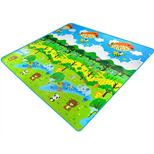whelsara Baby Play Mat Kids Forest Jardín Botánico Vivero Colchonetas de arrastre Niño de dos caras antideslizante Gimnasio Juguete Infantil Suelo de arrastramiento Tapete de juego presents