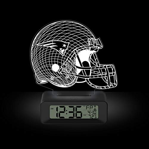 NFL Team Logo LED Illusion Alarm Clock by Game Time - New England Patriots