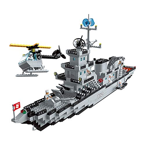 WFF Spielzeug Montage Spielzeug pädagogisches Spielzeug Baustein-Satz 910 Stück, Meeresforschung Schiff schwimmende Spielzeug-Boot for 6+ Jahre Alten Jungen (Color : 1 Piece)