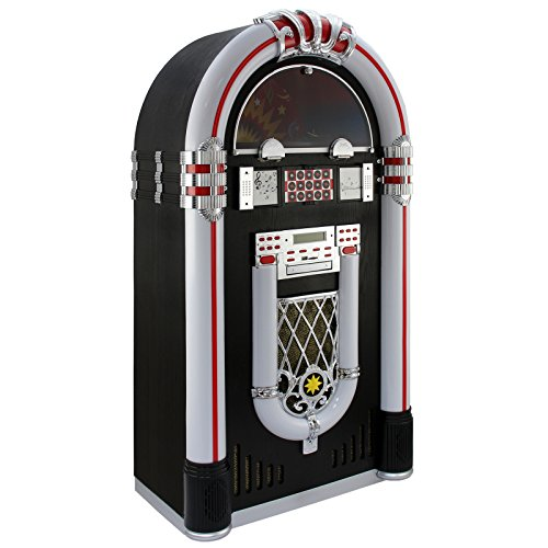 MonsterShop - Jukebox Años 50 con Vinilo, CD, USB,