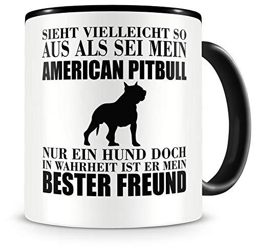 Samunshi® American Pitbull mein bester Freund Hunde Tasse Kaffeetasse Teetasse Kaffeepott Kaffeebecher Becher