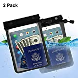 GAMURRY - Funda Impermeable Universal, Funda Protectora eReader Impermeable para iPad, Kindle Paperwhite, Oasis, Fuoco, Kobo Touch, Teclado, mapas, Documentos y 2 Paquetes (Dos Paquetes)