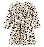 DELEY Unisex Bebé Niñas Niños con Capucha De Albornoz Suave Bata Invierno Pijamas Camisón Ropa De Dormir Leopardo Negro Tamaño 120