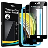 ESR(2 Unidades) Protector de Pantalla Compatible con iPhone SE 2020/8/7 4.7', Cobertura Completa Cristal Templado 3D, Dureza 9H Vidrio Templado, Negro